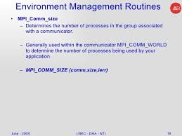 mpi comm size tutorial on parallel computing and message passing model c2