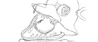 Coloring Pages Of Mangle And Foxy Five Nights At Coloring Pages