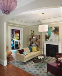 Molding For Living Room Moulding Living Room Transitional With Pendant Light Purple Chairs