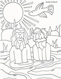 Baptism Of Jesus Coloring Pages Religious Doodles