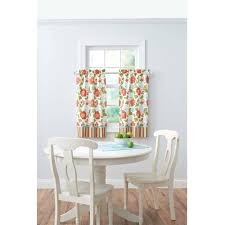 better homes and gardens jacobean stripe kitchen curtains set of 2 or valance
