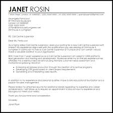 Call Center Cover Letter Example Call Centre Supervisor Cover Letter Sample Cover Letter