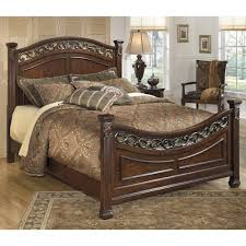 ashley traditional bedroom furniture. Unique Furniture Signature Design By Ashley Leahlyn Traditional Queen Panel Bed With  Decorative Headboard And Footboard Throughout Bedroom Furniture O