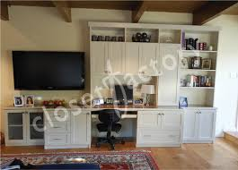 office wall desk. Wall Office Desk. Unit With Desk And Entertainment Eclectic-home-office B