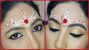 Bridal Kumkum Bindi Designs 2 Easy Bindi Designs For Bengali Bridal Makeup Chandan Art Kum Kum Art My Obsession By Anamika