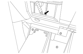 The illustration is of the instrument panel with the instrument panel partment door opened and folded downward