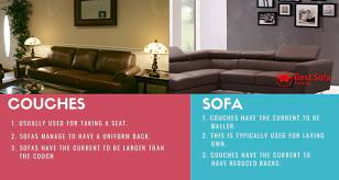 the difference between sofa and couch