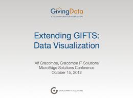 extending gifts with givingdata slide deck