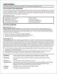 Entry Level Help Desk Resume Resume Layout Com