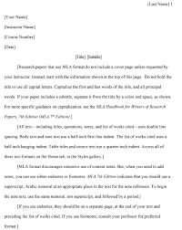 Research Paper Proposal Example Of In Mla Format Writing Topics