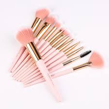 zoreya 12pcs professional makeup brushes super soft synthetic hair pink handle make up brush blending concealer lip beauty tools