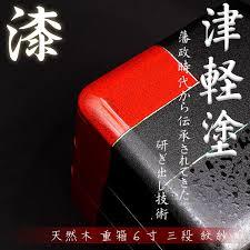 lacquer box 6 sun monsha aomori prefecture hirosaki traditional crafts ishioka craft natural wood lacquer ware jubako wood