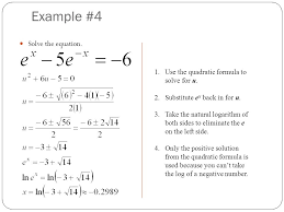 example 4 solve the equation 1 use the quadratic formula to solve for