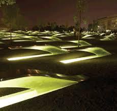 911 pentagon memorial uses induction lighting bench lighting