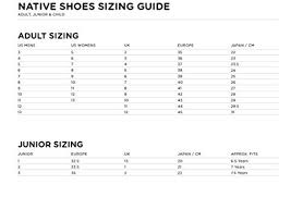Native Jefferson Shoes Size Chart Amazon Com Native Sneakers Fitzsimmons Treklite Print Wd
