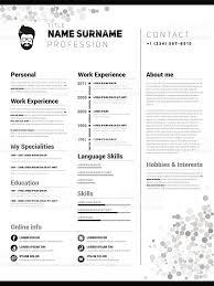 Minimalist CV, resume template royalty-free stock vector art. Illustration  Resume
