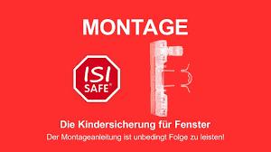Montage Isi Safe Transparent Die Kindersicherung Für Fenster Youtube