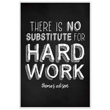 Amazoncom There Is No Substitute For Hard Work Wall Thomas Edison