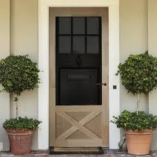 screen storm door wood thompson brick