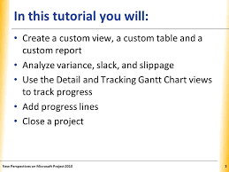Microsoft Project 2010 Tutorial 5 Tracking Progress And