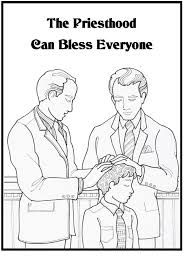 The priesthood can bless everyone - coloring sheet