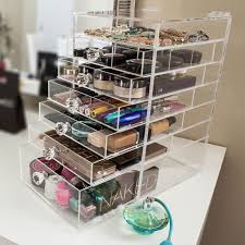 china acrylic clear skin care cube drawer storage box 5 tier makeup nail polish partment lid crystal drawer organizer manufacturers suppliers