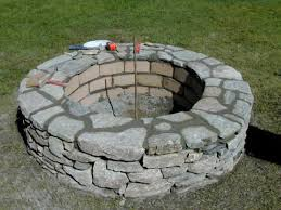 outdoor stone fire pit. Step 6 Outdoor Stone Fire Pit