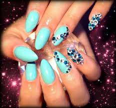 tiffany blue almond nails | Nail art and Inspiration | Pinterest ...