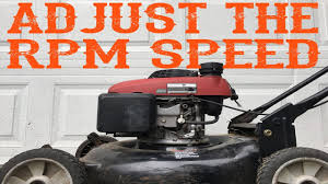How To Adjust The Rpm Speed On A Honda Lawn Mower Video