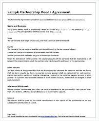Template Of Partnership Agreement – Custosathletics.co