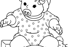 Angel Baby Coloring Pages At Getdrawingscom Free For Personal Use