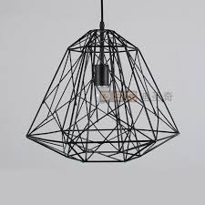 gorgeous wire pendant light classic american vintage black and white iron wire cage bird nest