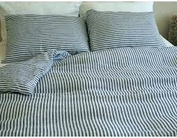 navy blue rugby stripe bedding striped duvet transitional bedroom refined