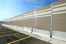sound barrier walls. Sound Barrier Walls Structure Mounted Wall On Jersey Barriers Highway