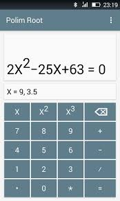 polim root demo android app to find root of quadratic equation