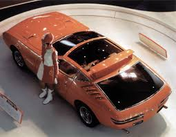Toyota EX-1 2-seater concept sports car shown at the 1969 Tokyo ...