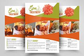 Spa Brochure Template Inspiration Beauty Spa Flyer Templates