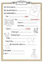 english worksheet book cover for young learners