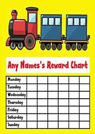 Yellow Train Star Sticker Reward Chart Amazon Co Uk Office Products
