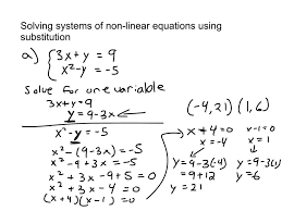 solving linear equations substitution photos enjoyable 109 systems non using