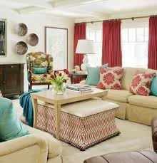 decorating with red furniture. red u0026 turquoise throw pillows on furniture grey walls curtains white blinds decorating with e