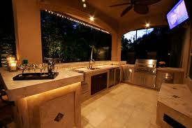 Outdoor Kitchen Lighting A Beautiful Outdoor Kitchen Retreat Michael Glassman Associates