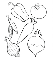 Fruit And Vegetables Coloring Pages Printable Fruits Pictures For