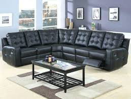 leather sectional sofas with recliners for tosh furniture bonded leather sectional sofa black white throughout dimensions