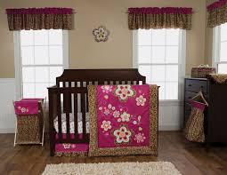 berry color leopard print 3 pc crib bedding set