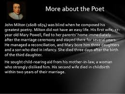 on his blindness sonnet by john milton 1 by john milton 2