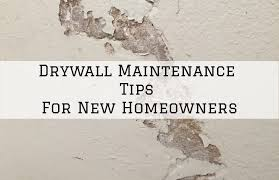 drywall maintenance tips for new