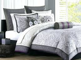 purple bedding popular grey and white sets decoration throughout comforter gray lavender linen