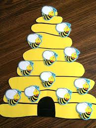 My Busy Bee Attendance Chart Free Preschool Sheet Template Printable ...