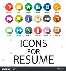 Icons Set Your Resume Cv Job Stock Vector 357219389 Shutterstock
